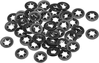5mm Inner Dia 14mm Outer Dia uxcell M5 Internal Tooth Starlock Washer 200pcs Push On Lock Washer Locking Washers Clips Fastener