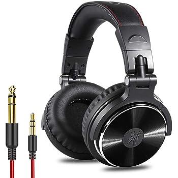 OneOdio Over Ear Kopfhörer mit Kabel Mikrofon Share-Port Adapter-frei Professionelle DJ Headphones für Podcast, Recording, Monitoring AMP PC TV Geschlossene Studiokopfhörer Schwarz