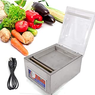 Vacuum Sealer Machine,Commercial Kitchen Food Chamber Tabletop Seal Vacuum Packaging Machine Sealer 110V (US Stock)