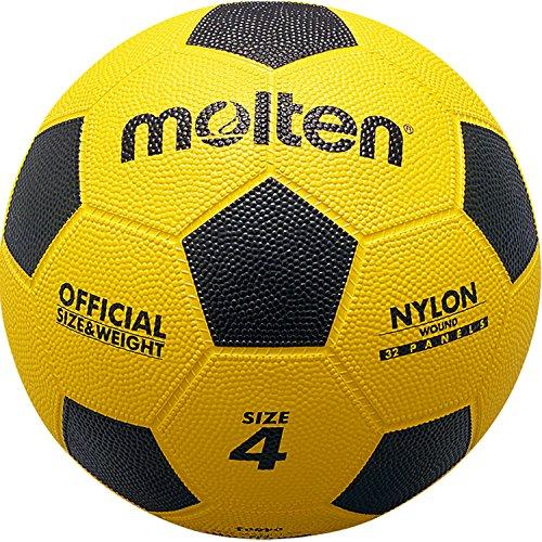 molten(モルテン) サッカーボール 亀甲ゴム 4号 白×黄F4Y F4Y