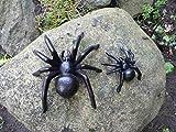 Home 3010 2er Set Spinne Gusseisen/Haus u. Garten Deko *Tarantel* Skulptur/Wanddeko