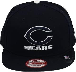 New Era Men's Chicago Bears Leather Strapper 9FIFTY? Snapback Adjustable Hat Medium/Large