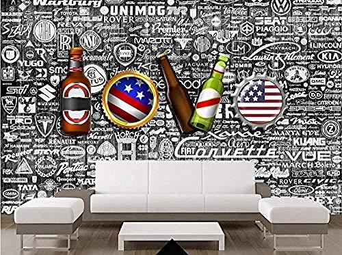 ZZXIAO Bier Liebe Kinder Wohnzimmer Schlafzimmer Dekoration wandpapier fototapete 3d effekt tapete Wohnzimmer Schlafzimmer Hintergrundbild-300cm×210cm