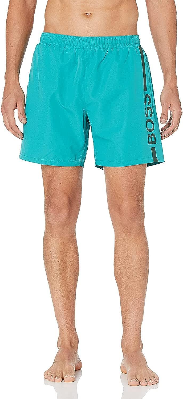 Hugo Boss Men's Dolphin Swim Shorts Turquoise Classic Trunks XXL