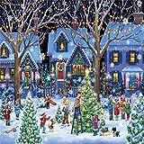 FUU 500 Piezas Rompecabezas para Adultos y niños Regalo del Festival Rompecabezas Virtual Navidad,500,Puzzle de Cartón de Alta Dificultad,Juego de Desafío