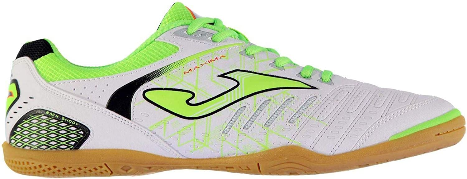 Joma Maxima Indoor Trainers Mens Wht Grn Football Soccer Fusbal shoes Sneakers