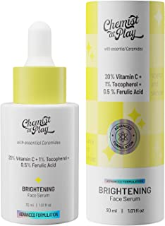Chemist at Play Advanced Brightening Face Serum with Ceramides   20% Vitamin C + 1% Tocopherol + 0.5% Ferulic Acid   All S...