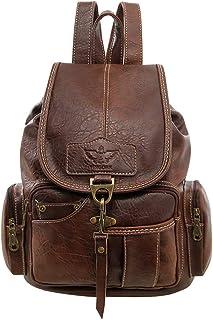 SPAHER Rucksack Damen Handtasche Rucksack Damen Leder Schulrucksack Taschen Damen Daypack Damen Tasche Umhängetasche Schul...
