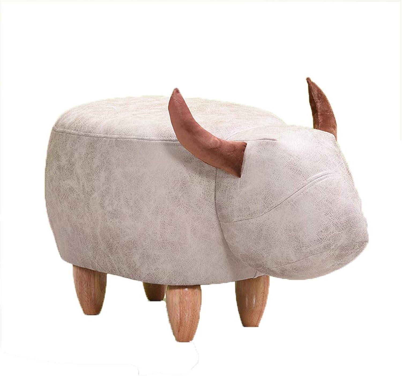 HLJ Simple Cartoon Animal Sofa Stool Comfortable Creative Change shoes Stool Personality Fashion Home Small Bench