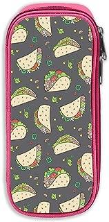 Tacos Food Grey Charcoal 3D Printed Graphric Cool Pencil Case Pen Bag Cosmetic Makeup Bag