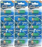 Eunicell FBA - Pilas alcalinas sin mercurio (15 unidades, 4LR44, 6 V, 3 paquetes de 5 pilas) PX28, 4G13, 476A, L1325, desechables, marca
