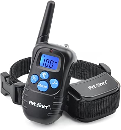 Petrainer PET998DRB1 Rainproof Dog Shock Collar with Remote Dog Training Collar with Beep Vibrate Shock Electronic Collar, 300 yd Remote Range