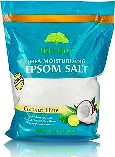 Tree Hut Shea Moisturizing Epsom Salt Coconut Lime, 3Ibs, Ultra Hydrating Epsom for Nourishing Essential Body Care