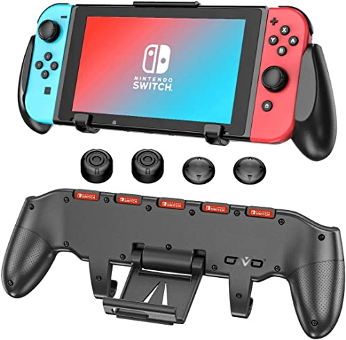 Switch Grip with Upgraded Adjustable Stand Compatible with Nintendo Switch, OIVO Asymmetrical Grip with Upgraded Adju...