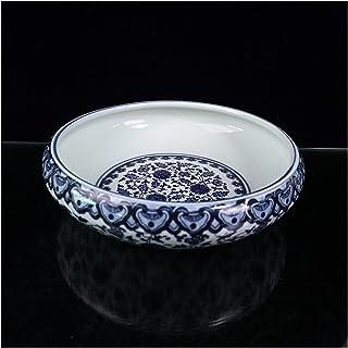 YANGYANG Allenzhang Céramique Chinoise Porcelaine Bleu et Blanche Porcelaine Chinaware Motif Lotus Big Wash Pot