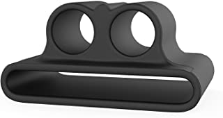 AirPods Watch Band Holder Portable Anti-lost Strap Silicone Case for Apple AirPod (Black)