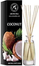 Reed Diffuser Coconut 3.4 oz - Natural - Home Gift Idea - Home Fragrance Made with Nice Oils - Coconut - Great Idea for Mo...