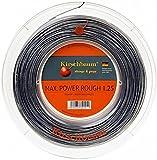 Kirschbaum, Rotolo di Corda per Racchetta da Tennis Max Power Rough, Grigio (Anthrazit), 200 m