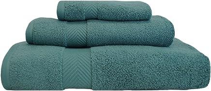 Superior 系列100%棉超柔软吸水3件毛巾套件 绿玉色