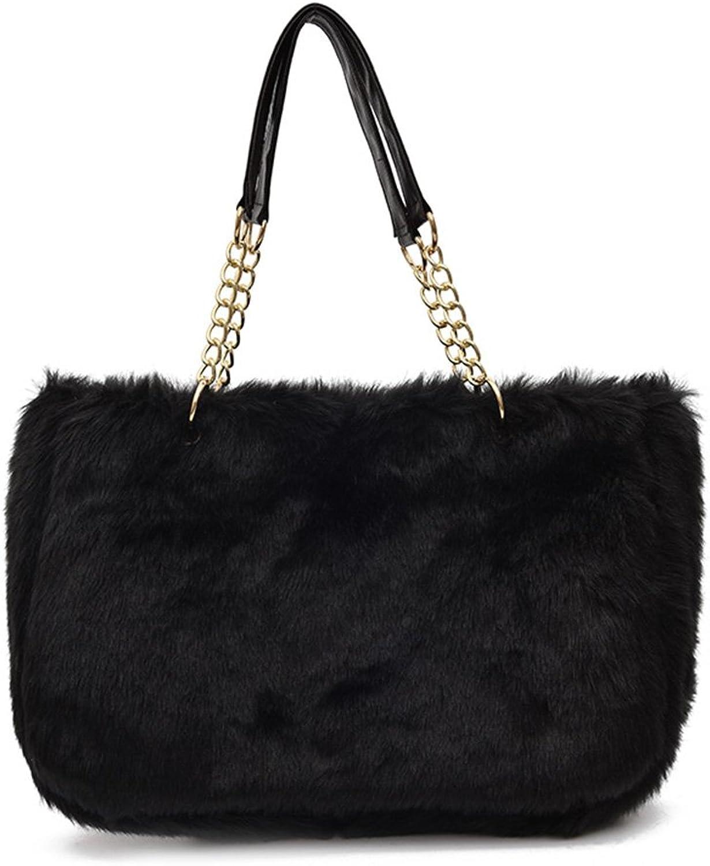 Amarte Women's Woollen Tote Bag Large Room Top Handle Satchel Laptop Shoulder Bag Crossbody Bag