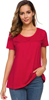 MSHING Women's Chiffon Casual Button Down Blouse with Pockets Loose Long Sleeve Tops Shirt
