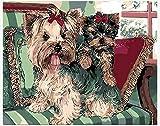 WOWDECOR Kit de pintura por números para adultos y niños, pintura al óleo de perro Schnauzer y cachorro, 40,6 x 50,8 cm (X7052, sin marco)