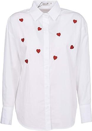 Molly Bracken - Camisa blanca con corazones blanco XS: Amazon ...