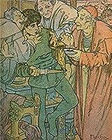 ナンバーキットでペイントキャンバスDIY油絵キッズ学生大人初心者ブラシとアクリル顔料-漫画の女の子アニメキャラクター16x20インチ(フレームなし)