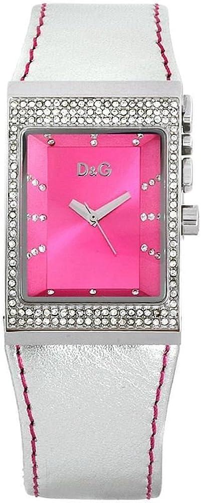 Dolce & gabbana orologio  da donna, cinturino in pelle cassa in lega di acciaio DW0156