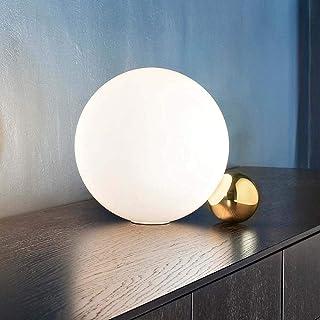 HtapsG Lampe de Table Postmoderne Minimaliste Art créatif Senior Boule Verre Designer Salon Lampe de Table Apprentissage C...