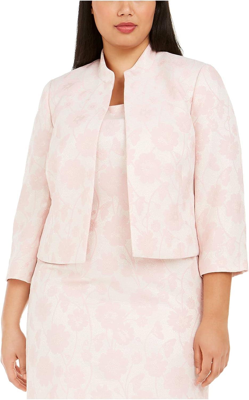 Kasper Womens Pink Floral Blazer Wear to Work Jacket Size 16W