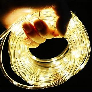 L.J.JZDY Solljus LED 7 m trädgård solcell girlang belysning vattentät LED-ljusslinga utomhus julfest bröllop träddekoratio...