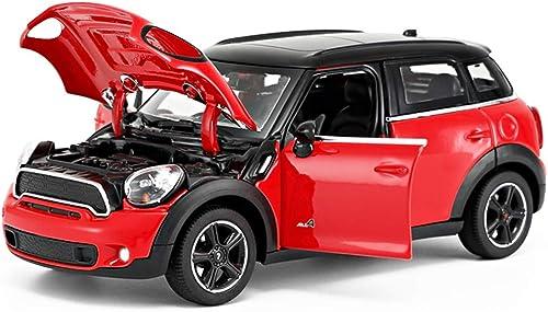 WZLDP Modèle de Voiture Statique BMW Mini Mini en Alliage   Collection de Voitures de Jouet en métal - Décoration 1  24   Modèles réduits (Couleur   Rouge)