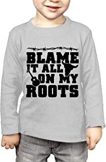 Blame It All On My Roots Printed Boys & Girls Long Sleeve Tshirts