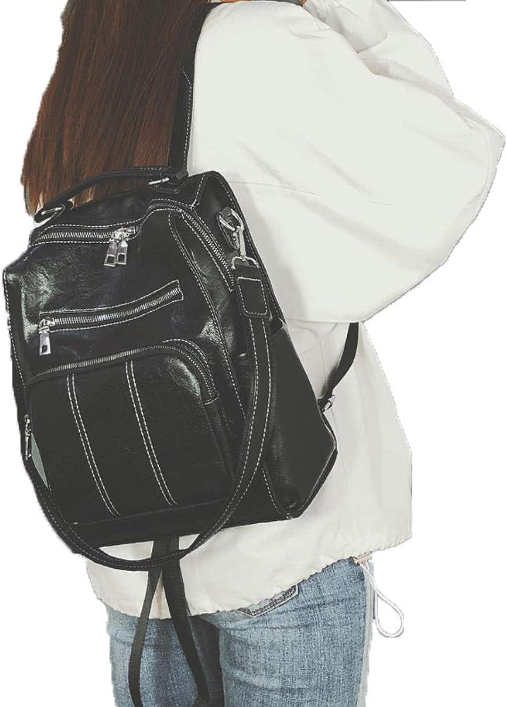 Rucksack Handtasche Umhngetaschen Leichte Daypack Anti-Theft-Taschen Rucksack Damenmode vielseitig einsetzbarer Rucksack mit groer Kapazitt PU College Wind Studententasche