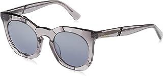 نظارات شمسية للنساء من ديزل DL027020C49 - رمادي/ عاكس - بلاستيك