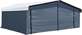 Arrow Fabric Enclosure Kit with UV Treated Cover 20 x 20-Feet (Carport Not Included), Gray