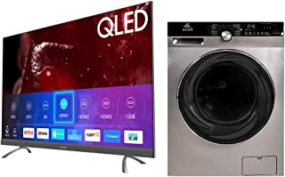 evvoli 75 Inch QLED TV + 12 KG Automatic Washing Machine