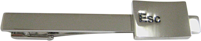Esc Key Square Tie Clip