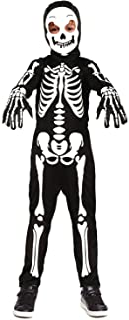 Koatobbor Kids Skeleton Costumes Glow in The Dark Halloween Scary Jumpsuit for Girls Boys