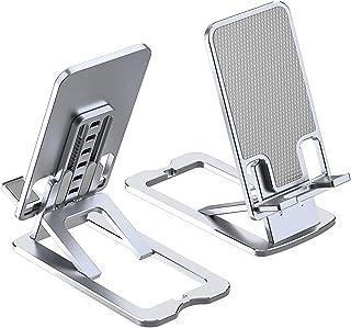Bbtops Cell Phone Stand,Adjustable Aluminum Phone Holder Desktop Electronic Book Reader Tablet Holder Lazy Holder Live Mob...