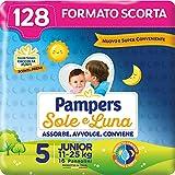 Pampers Sole e Luna - Pannolini, Bambini Unisex, Junior Taglia 5 (11-25 kg), 128 Pezzi