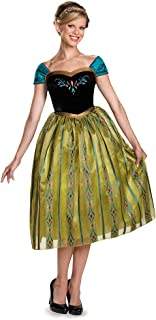 Women's Frozen Anna Coronation Deluxe Costume