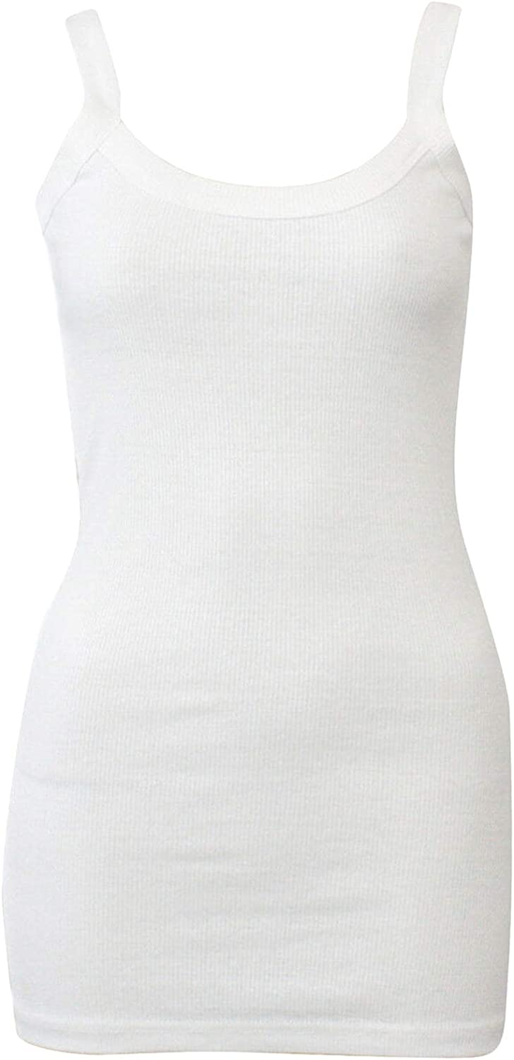 Ladies Strappy Vests Womens 100/% Cotton Vest Top Stretchy Ribbed Slim Fit Casual Comfort Summer Gym Jogging Beach Sports Sleeveless Cami Camisole Fashion Plain Tank Tops