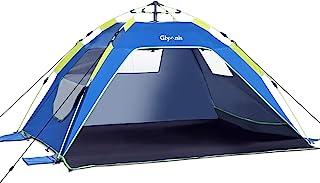 Glymnis Tienda de Playa Tienda Pop Up Portátil Tienda Instantánea Fácil de Instalar para 4 Personas con UPF 50+ Gran Tamaño 215 x(150+20) x 115 cm
