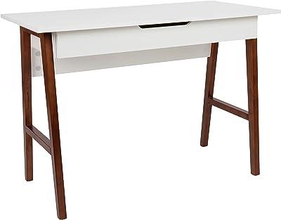 "Flash Furniture Computer Desk - White Home Office Desk with Storage Drawer - 42"" Long Writing Desk for Bedroom"