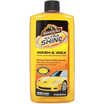 Armor All Car Wash & Wax Spray Bottle, Cleaning Concentrate for Cars, Truck, Motorcycle, Ultra Shine, 16 Fl Oz, 25178