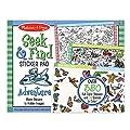 Melissa & Doug Seek & Find Sticker Pad - Adventure (400+ Stickers, 14 Scenes to Color), Multicolor