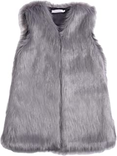 Youhan Women's Faux Fur Vest Coat Sleeveless Jacket