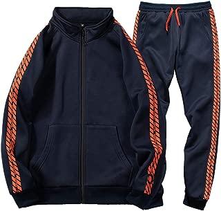 Men's Casual Tracksuit Full Zip Athletic 2 Piece Jogging Sweat Suits